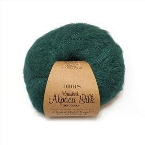 Drops Alpaca brushed silk uni colour
