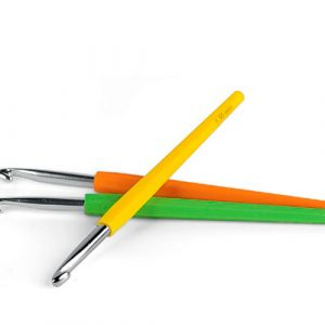 Крючки / Алюминий (односторонний, с мягкой цветной ручкой)