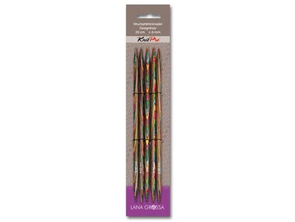 Чулочные спицы / Дерево (разноцветное) / длина 15 см